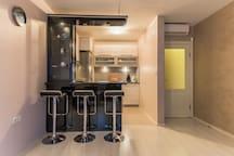 Лукс 1BD Suite, ограничен достъп, най-добрата зона 1 FlatAway